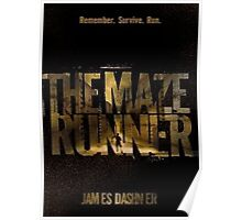 The Maze Runner Book Cover 3 Poster