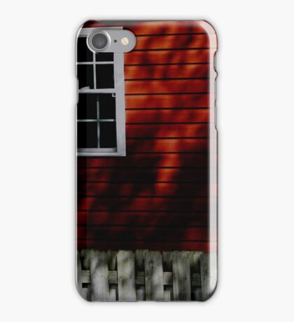 Shadows on Red iPhone Case/Skin