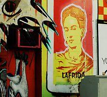 frida kahlo graffiti by djnarelle