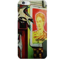 frida kahlo graffiti iPhone Case/Skin