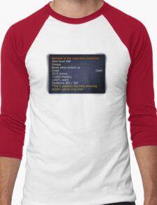 Rainment of The Legendary Character Men's Baseball ¾ T-Shirt