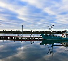 Boats in Lakes Entrance by Simon Penrose