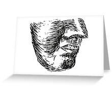 """Chin"" Illustation Greeting Card"