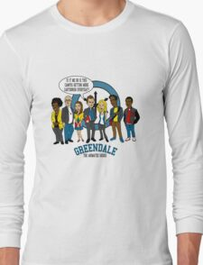 Greendale the Animated Series Long Sleeve T-Shirt