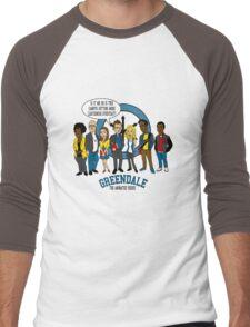 Greendale the Animated Series Men's Baseball ¾ T-Shirt