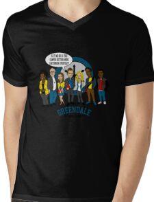 Greendale the Animated Series Mens V-Neck T-Shirt