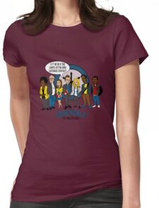 Greendale the Animated Series Womens Fitted T-Shirt