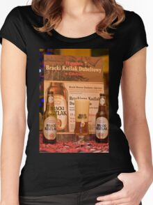 Offers good beer!!! Women's Fitted Scoop T-Shirt