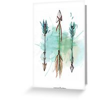 Indian Watercolor Arrows Greeting Card