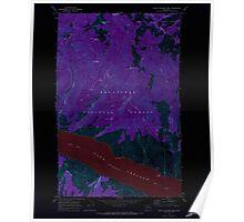 USGS Topo Map Washington State WA South Navarre Peak 243877 1968 24000 Inverted Poster