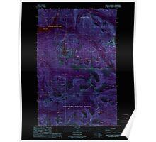 USGS Topo Map Washington State WA Mount Stickney 242555 1989 24000 Inverted Poster