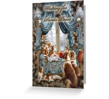 Welshies wait for Santa Paws Greeting Card