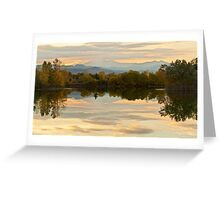Reflections Like Glass Greeting Card