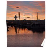 Sunrise at the docks, Hobart, July 2010 Poster