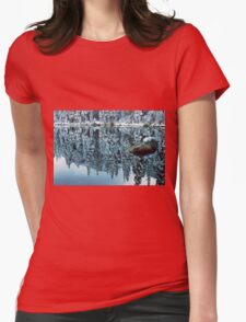 Snow Mirror Womens Fitted T-Shirt