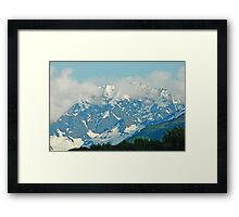 High On A Mountain Top Framed Print