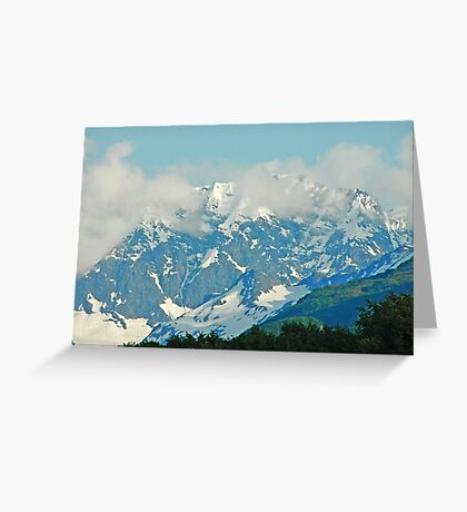 High On A Mountain Top Greeting Card