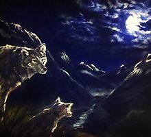 Lunar Lupus by windsprite17