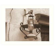 Old Lantern Art Print