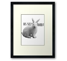 His silly rabbit Framed Print