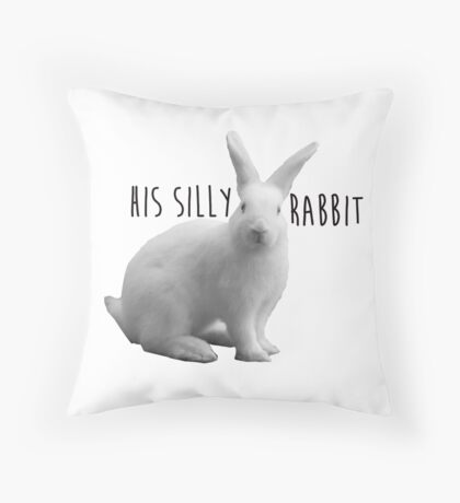 His silly rabbit Throw Pillow