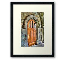 Doors, Princeton University, NJ Framed Print