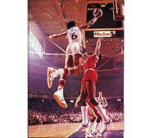 Dr. J slam dunk Photographic Print