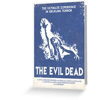 The Evil Dead (1981) Custom Poster Greeting Card