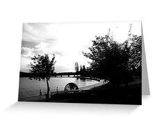 The Globe, Lake Burley Griffin, Canberra - BW Greeting Card