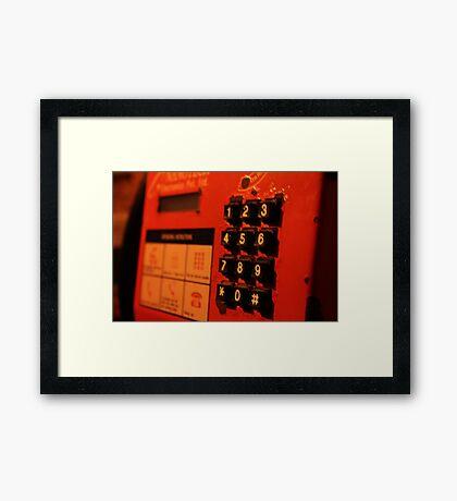 phone Framed Print