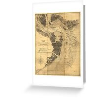 Map of Charleston Harbor South Carolina (1863) Greeting Card