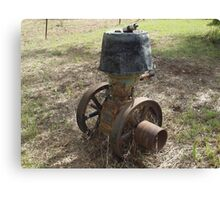 Old R.A. Lister Stationary Engine Canvas Print