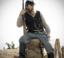 The Civil War Reenactor-1163 by Michael Byerley