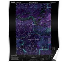 USGS Topo Map Washington State WA Tieton Basin 244283 2000 24000 Inverted Poster