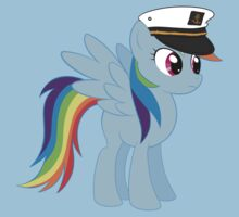 Captain Rainbow Dash Kids Tee