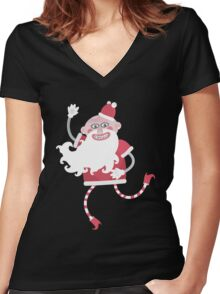Claus. Women's Fitted V-Neck T-Shirt