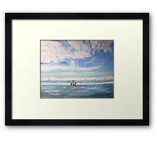 Waiting for the Waves Framed Print