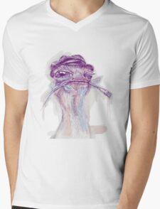 Ostrich Painter Mens V-Neck T-Shirt