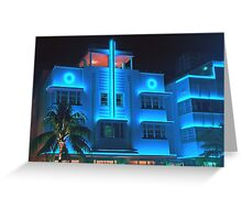 Miami Deco Lights Greeting Card