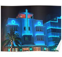 Miami Deco Lights Poster