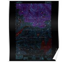USGS Topo Map Washington State WA Spirit Lake West 243904 1984 24000 Inverted Poster