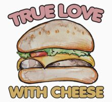 True love with cheese cheeseburger One Piece - Short Sleeve