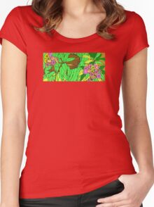 FLORAL JUNGLE  Women's Fitted Scoop T-Shirt