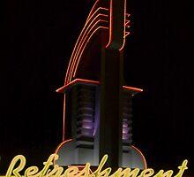 Drive in Movie Lights by artstoreroom