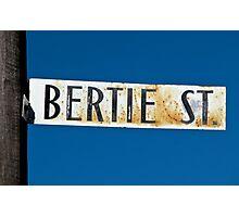 Bertie St Photographic Print