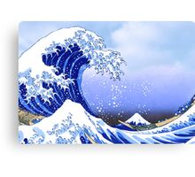 Surf's Up! Great Wave, Hokusai Canvas Print