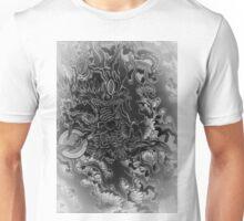 japanese black dragon in wonderland  Unisex T-Shirt