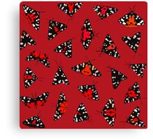 Scarlet Tigers - Red Canvas Print