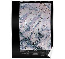 USGS Topo Map Washington State WA Oval Peak 20110509 TM Inverted Poster