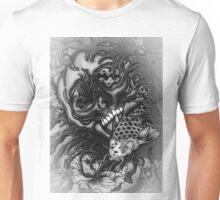skull and koi fish in wonderland Unisex T-Shirt